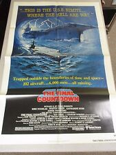 Vtg 1 sheet 27x41 Movie Poster The Final Countdown 80' Kirk Douglas Martin Sheen