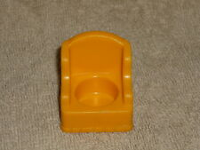 Fisher Price Little People Vintage Orange Wing Chair