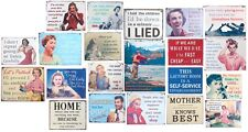 Funny Retro Metal Wall Sign Plaques Vintage Style Choice of *21*