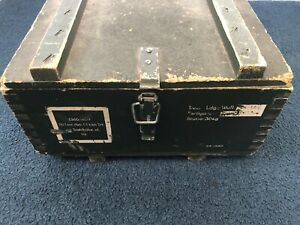 1960's WEST German Army - Ammunition Crate - Ammo Box - Wooden Box With Steel HW