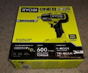 New RYOBI P262  ONE+ HP 18V Brushless Cordless 1/2 in. Impact Wrench