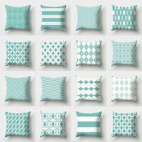 "18"" Fresh Green Polyester Sofa Waist Throw Cushion Cover Pillow Case Home Decor"