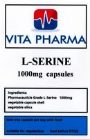 HIGH STRENGTH L-SERINE 1000mg 30 caps brain and nervous system