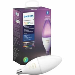 Philips - Hue White and Color Ambiance E12 Bulb - White