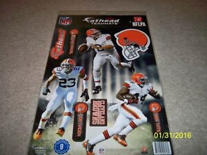 BRAND NEW! NFL CLEVELAND BROWNS 3 PLAYER FATHEAD TEAMMATES WALL DECALS!