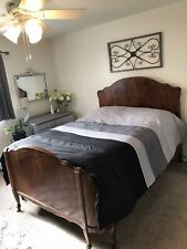 Antique Cherry Wood Sleigh Bed, Full, Can Ship Neg. Cost