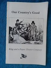 Our Country's Good - William Carlos Williams Theatre Playbill - October 2003