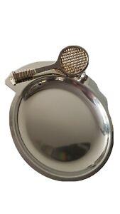 Vintage Tennis Coin Trinket Pin Dish Racquet Club bar Sport Mancave memorabilia