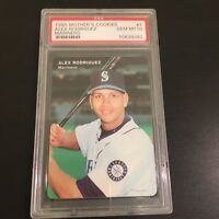 1995 Mothers Cookies Alex Rodriguez Mariners Rookie Card PSA GEM MINT 10