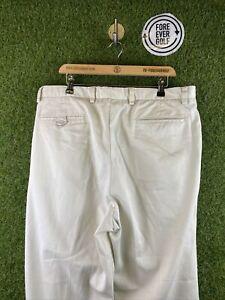 CALLAWAY, Mens W38 L32, Cream, Loose Fot, Golf Trousers,*GC*