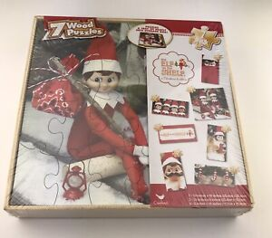 The Elf on the Shelf A Christmas Tradition 7 Wood Puzzles Box 2014 Holiday