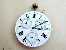 LONGINES movement and enamel dial ORIGINAL with calendars Swiss vintage