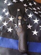 Vintage Basketweave Police Revolver Swivel Holster Rick Grimes Walking Dead