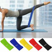5 Elastici Fascia Esercizi Fitness Sport Bande Allenamento Pilates Palestra Yoga