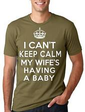 New Father Dad T-shirt My wife is having a Baby Tee Shirt Daddy new Baby Tee