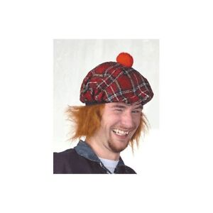 See You Jimmy hat - Tartan hat with Ginger Hair