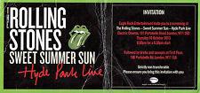 ROLLING STONES Sweet Summer Sun 2013 press screening invite