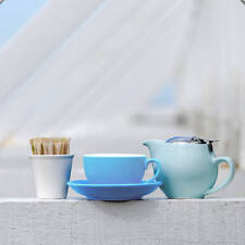 BEVANDE BLUE 200ml COFFEE TEA CUP AND SAUCER SET (6-SETS) BRAND-NEW COMMERCIAL