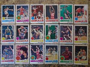 (88) 1977-78 Topps Vintage NBA Basketball Starter Set Lot Cards Parish RC Pete