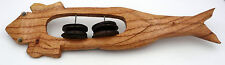 Instrument de musique ethnique grenouille maracas en bois artisanat Indonésie