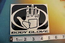 "BODY GLOVE  black and white palm 5"" Vintage Surfing Decal STICKER"