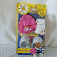 Build A Bear Accessorize Me Pink Backpack 2004 Small Bears Shoes Socks