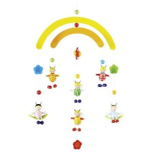 Mobile Wood Mobile 3-D Mobile Spring Bees Colorful Goki 52923