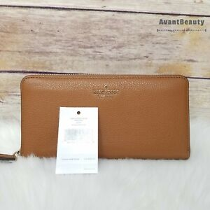 NWT Kate Spade Jackson Large Continental Leather Wallet in Warm Gingerbread New