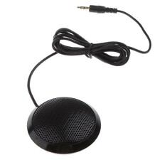 Omnidirectional Condenser Boundary Microphone , 3.5mm Plug Table Phone Black