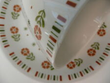 Vintage ALFRED MEAKIN GLO-WHITE Coffee DEMITASSE CUPS SAUCERS Set Orange Flowers