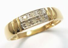 ELEGANT 10K SOLID YELLOW GOLD 6 DIAMONDS RING SIZE 7      R1264