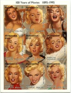 MONTSERRAT #860 Marilyn Monroe 100 years of Movies Souvenir Sheet Mint NH 1995