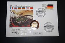 Numisbrief Deutschland wächst zusammen mit 50 Pfennig. Stempel 05.05.1990 (845)