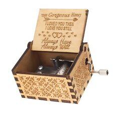 Klassischen Musik-Box 1x Spieluhr aus Holz und Metall Spieldosen Spieluhren