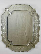 "Etched octagonal antique Venetian mirror 23¼"" x 29¼"""