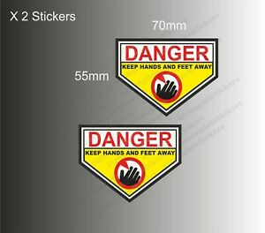 Danger Keep Hands And Feet Away Stickers Briggs and stratton lawnmower Engine