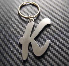 K Letter Alphabet Name Keyring Keychain Key Fob Bespoke Stainless Steel Gift