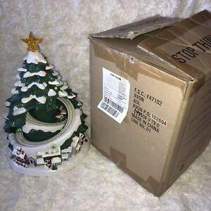 Avon Vintage Christmas Tree Moving Train Musical Rare Light Up Village 2007 XMAS
