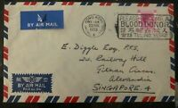 1953 Hong Kong Commercial Airmail Slogan Cancel Cover To Singapore