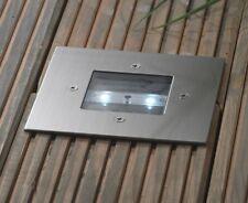 LED Solar Bodenlampe  Solarlampe Edelstahl Bodeneinbau Strahler Quadrat SEL02
