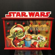 Kurt Adler Red Wooden 12 inch Star Wars Yoda Jedi Knight Advent Calendar