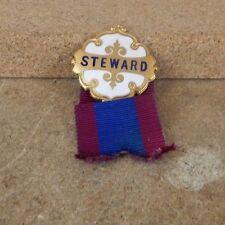 Vintage 50's Club steward badge .white enamel.