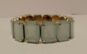 EX DISPLAY MODEL WOMEN'S SQUARE BRACELET IN GOLD & LIGHT BLUE