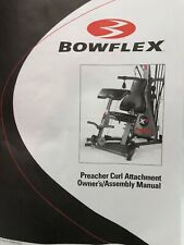 NEW BOWFLEX PREACHER CURL OWNERS MANUAL ASSEMBLY BOOK PART FX-PC MAIN FITNESS 1
