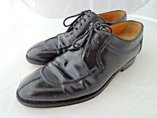 Bally Carillo Oxford Italian Men's Black Leather Lace Up Dress Shoes Size 8 D