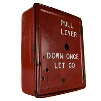 GAMEWELL PEERLESS PORCELAIN FIRE ALARM SIGNAL BOX Red Antique (parts repair)