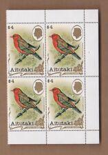 1981 Aitutaki Birds, $4.- SG 351 MUH, Block 4