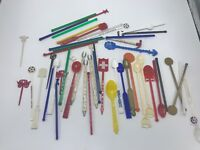 Lot of 40+ Vintage Advertising Swizzle Stir Sticks Chicago Wisconsin Lounge Bar