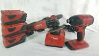 "HILTI SID 4-A22 COMPACT 1/4"" IMPACT DRIVER/ Grinder AG500-A22 / 3 batteries"