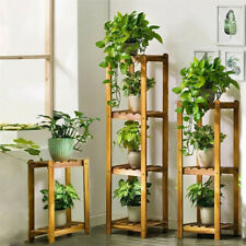 3 Sets Bamboo Plant Stand Shelf 2-3-4 Tier 60cm 99cm 130cm Highest Racks Outdoor